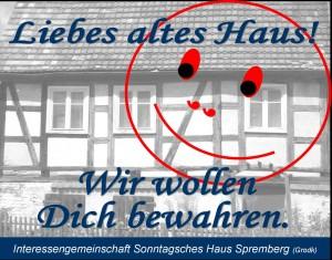 """Plakat der Interessengemeinschaft """"Sonntagsches Haus"""" Spremberg"""