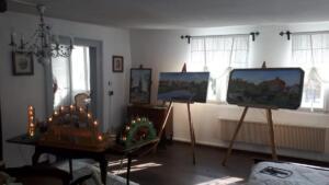 Gemälde und Schwippbögen